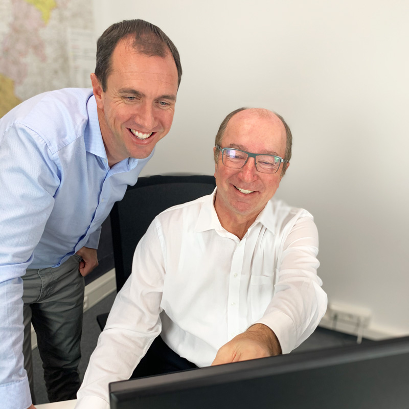 Schul-Info-App Gründer Peter Horner und Lothar Ganter